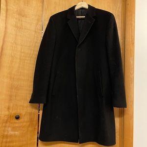 Kenneth Cole - Men's Over Coat size 38 Black